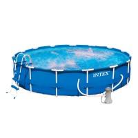 Бассейн METAL FRAME 28232/54942 + фильтрующий насос + аксессуары
