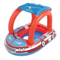 Круг для плавания с сиденьем и тентом Пожарная машина