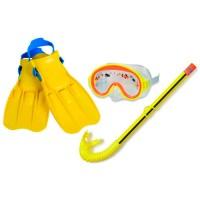 Набор для подводного плавания PLAY Adventure View (маска 55911, трубка 55921, ласты 55930), размер S, 3-8 лет