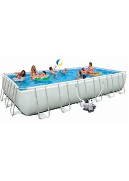 Бассейн RECTANGULAR ULTRA FRAME 28366 + насос с песчаным фильтром + аксессуары + волейбольная сетка