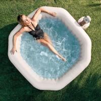 СПА-бассейн JET AND BUBBLE DELUXE восьмиугольный (пузырьковый и струйный массаж)