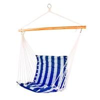 Гамак-кресло со спинкой бело-синий
