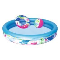 Набор: детский бассейн, круг для плавания, мяч