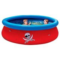 Бассейн Пираты 3D, надувное кольцо, с игрушками, с 2-мя парами 3D очковОбъем: 3480л