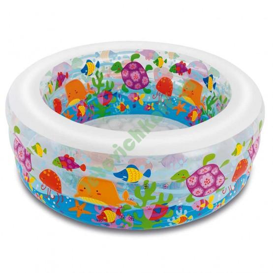Бассейн Аквариум, 3 кольца (надувной пол)