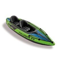 Лодка CHALLENGER K2 KAYAK, 2 мест. + насос, весла, сетка для аксессуаров