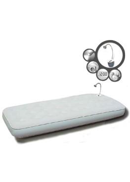 Кровать флок + лампа (светильник, FM-радио, часы, будильник)