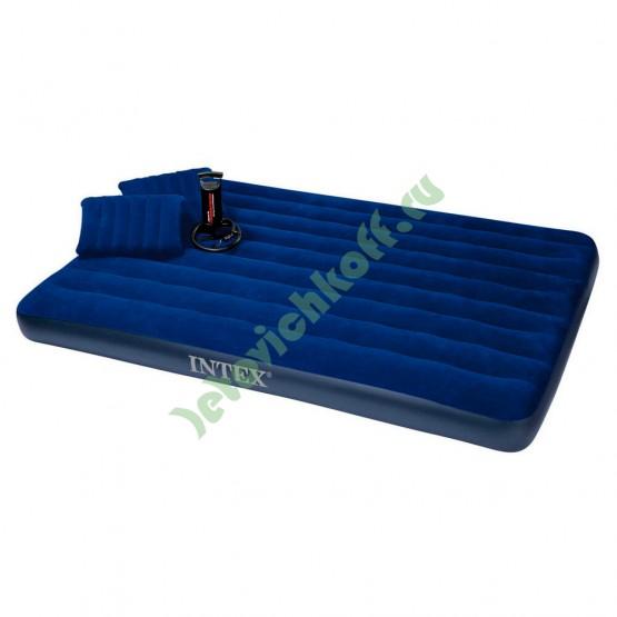 Кровать CLASSIC DOWNY, Queen, флок + ручной насос + 2 надувные подушки
