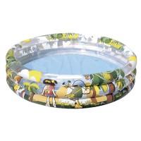Детский круглый бассейн Jungle Trek, бортик - 3 кольца, 167 л