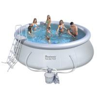 Бассейн Fast Set Pool 57242 + насос с песчаным фильтром + аксессуары