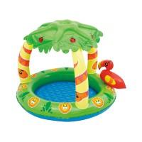 """Детский бассейн с надувным навесом от солнца """"Джунгли"""", 99х91х71 см, 25 л"""