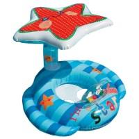 Плотик Звездочка, с поддержкой, с надувным навесом, с игрушками