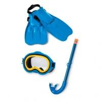 Набор для подводного плавания PLAY Master Class (маска 55913, трубка 55921, ласты 55931), размер M, от 8 лет