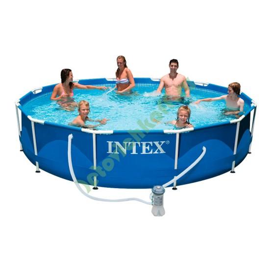 Бассейн METAL FRAME 28718/28218 + фильтрующий насос + аксессуары
