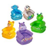 Кресло надувное для детей Животные (фигурная спинка)