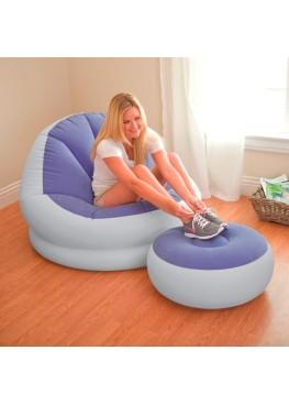 Кресло CAFE CHAISE, флок, 3 вида + пуфик