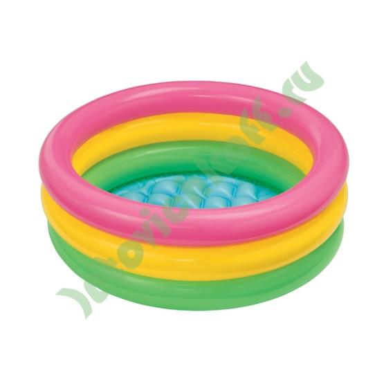 Бассейн Закат, 3 кольца (надувной пол)