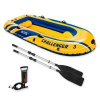 Лодка CHALLENGER 3 SET, 3 мест. + насос, весла