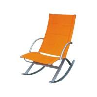 Кресло-качалка, полиэстер, сталь, цвет оранжевый