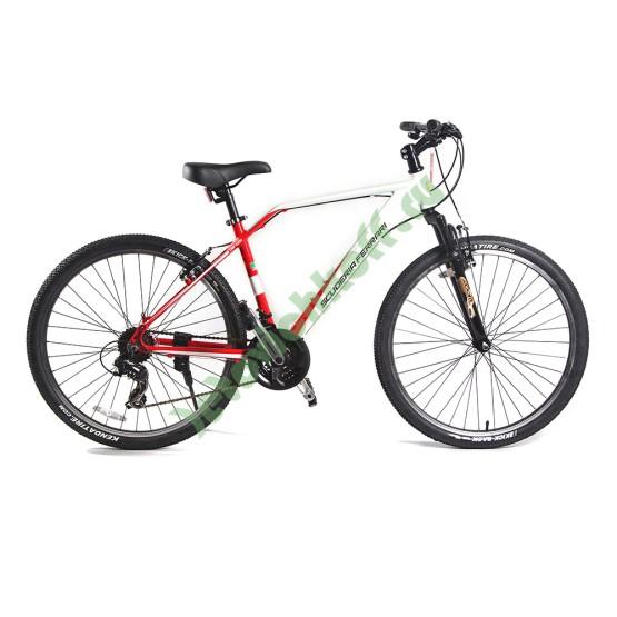 Велосипед Кросс Кантри 21 скорость бело-красный