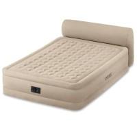 Кровать надувная с изголовьем HEADBOARD AIRBED, Queen (встроенный насос 220В)