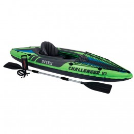 Лодка CHALLENGER K1 KAYAK, 1 мест. + насос, весло, сетка для аксессуаров