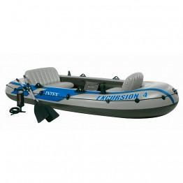 Лодка EXCURSION 4, 4-мест.+ насос, весла