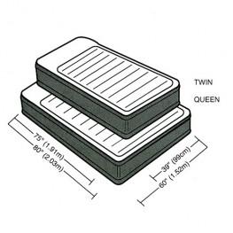 Кровать надувная с подголовником DELUXE PILLOW REST RAISED AIRBED, Twin (встроенный насос 220В)