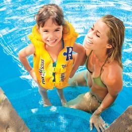 Жилет плавательный DELUXE POOL SCHOOL, 3-6 лет