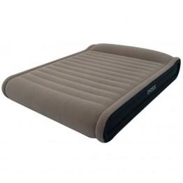 Кровать DELUXE MID-RISE PILLOW REST высокая с подголовником, Queen, вельветовый флок + электрический насос 220В