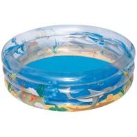 Надувной бассейн Морская жизнь 3 кольца