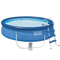Бассейн EASY SET™  28166/54908 + фильтрующий насос + аксессуары