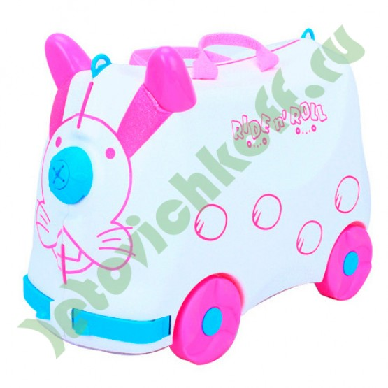Детский чемодан на колесах Зайчик