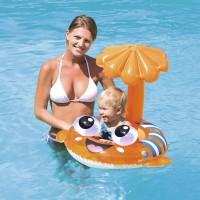 Круг для плавания с сиденьем и тентом Рыба-клоун