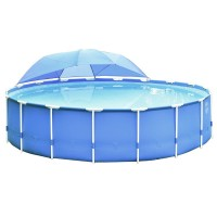 Тент на бассейн с навесом