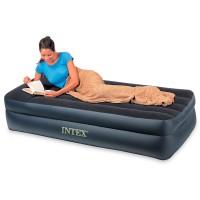 Кровать PILLOW REST RAISED высокая с подголовником, Twin, флок, электрический насос 220В
